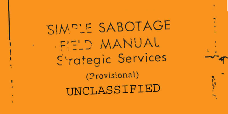 The CIA guide from 1944 on how to sabotage and slow down an organisation.